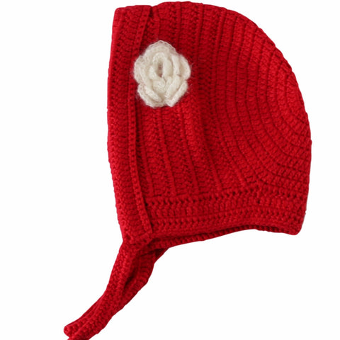 Hand Crochet Little Red Bonnet