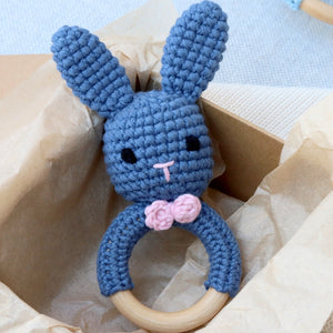 Handmade Bunny Rattle Blur,Rosie and Shadow