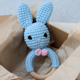 Handmade Bunny Rattle Blur, Rosie and Shadow