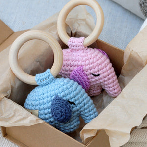 Load image into Gallery viewer, Handmade Elephant Rattle