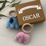 elephant rattle keepsake box