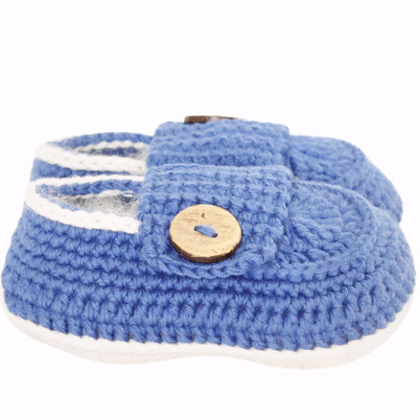 Hand Crochet Baby Boy Shoes