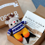Personalised Baby Keepsake Box With Deer Toy
