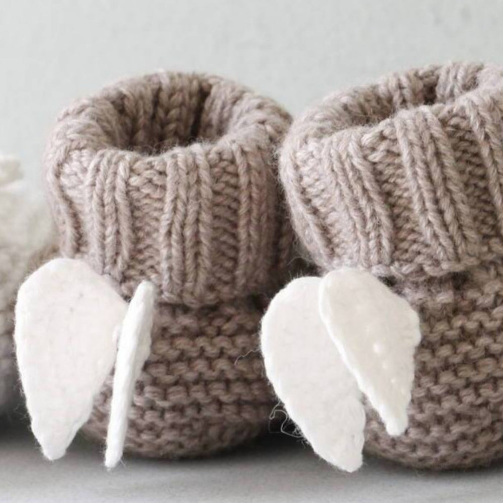 Angel Wings Cashmere Booties