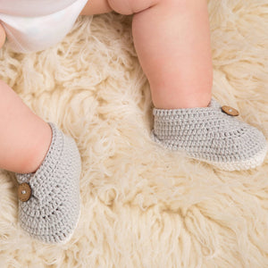 Baby Hand Crochet Double Flap Shoes