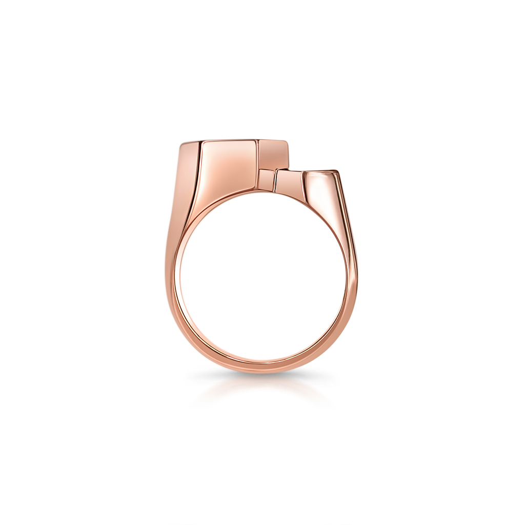 Signet Double Step Ring