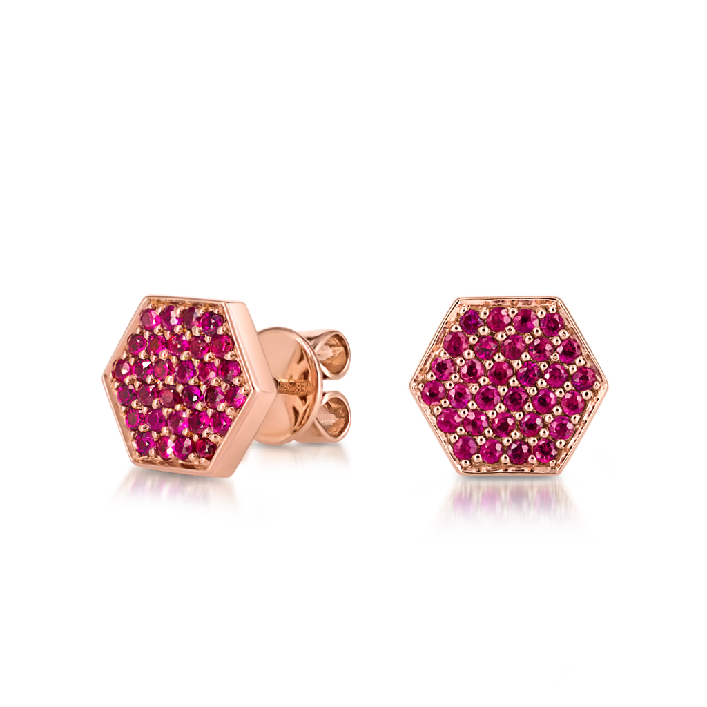 Sen Studs with Rubies -  Pinner