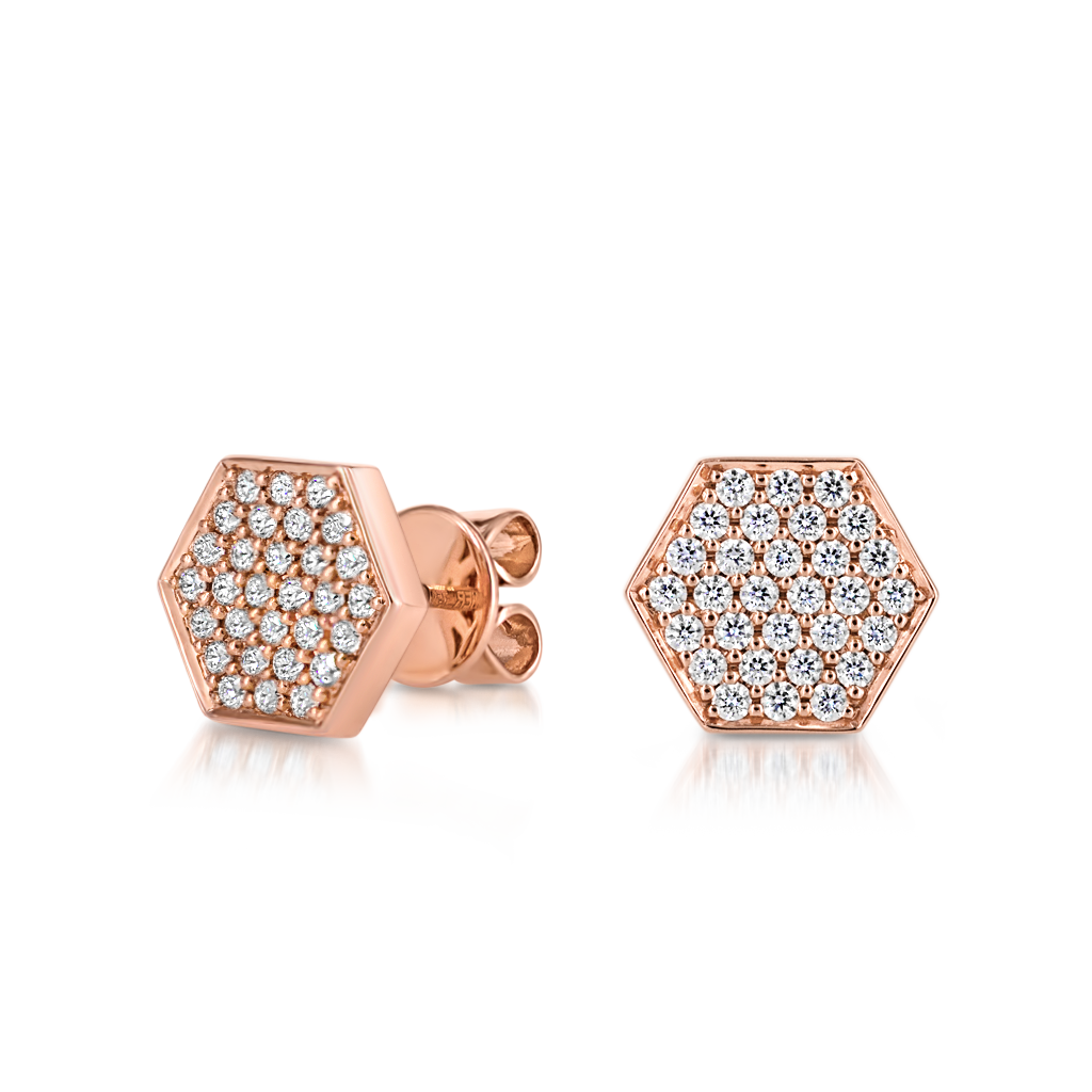 Sen Studs with Diamonds -  Pinner