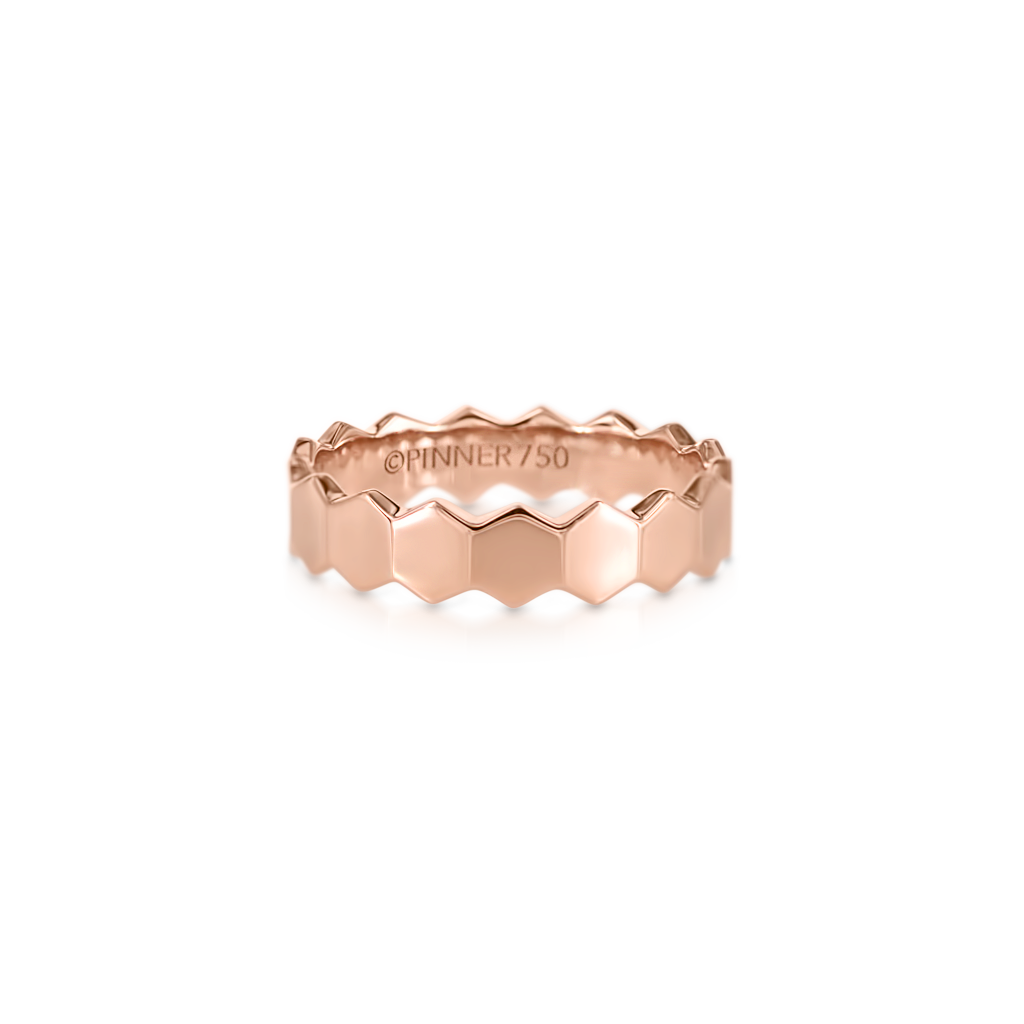 Honeycomb Solid Ring -  Pinner