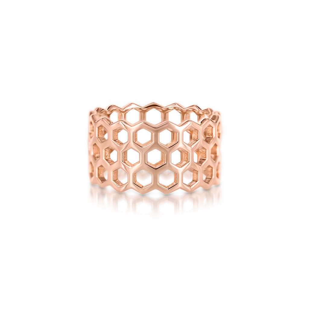 Honeycomb Triple Row Ring -  Pinner
