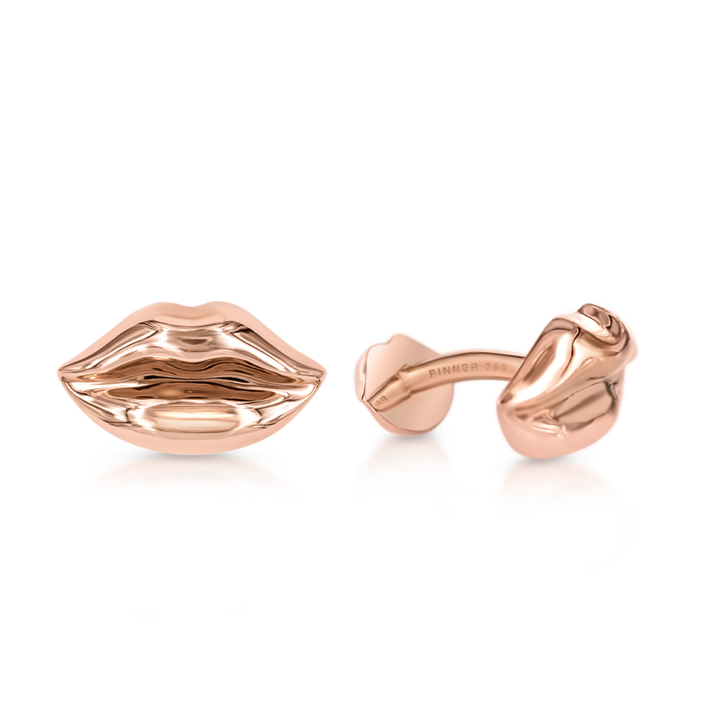 Lips Cufflinks -  Pinner