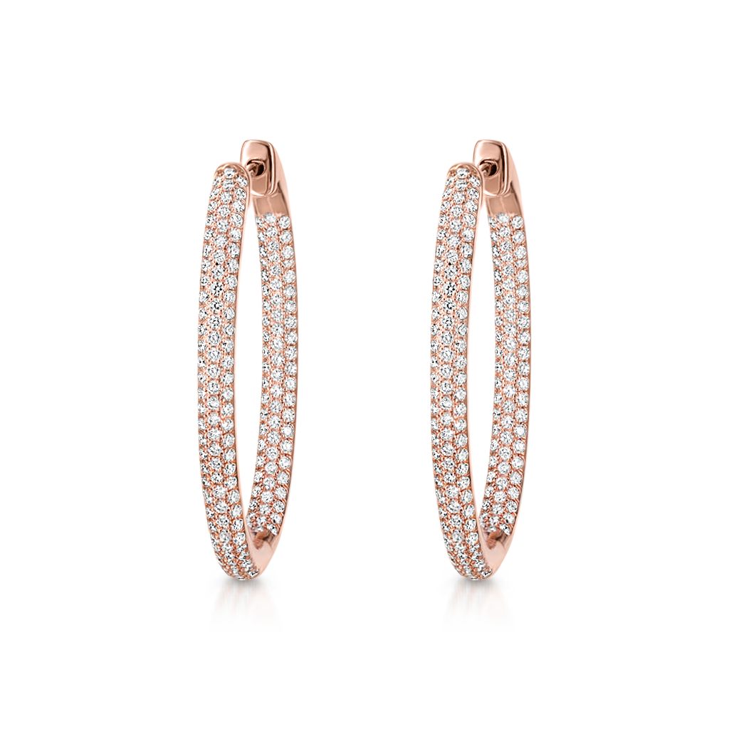 Oval Hoops with Diamonds -  Pinner