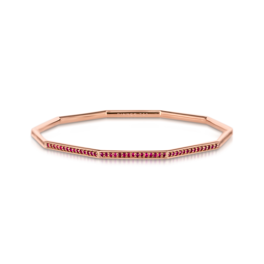 Sen Bangle with Rubies -  Pinner