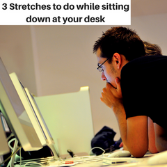 3 Stretches to do sitting down at your desk while munching Biltong