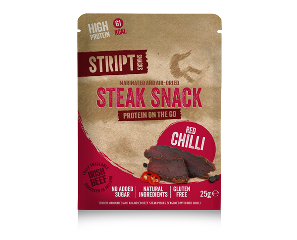 Red Chilli - 6 x 25g - Stript Snacks Biltong