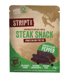 Stript Snacks Biltong Crack Black Pepper