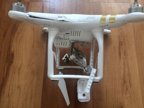 Crashed DJI Phantom 3 drone