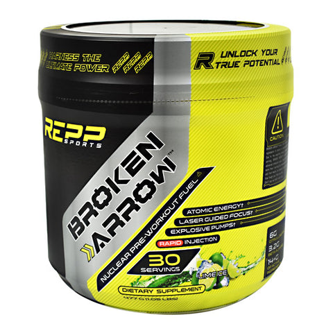Repp Sports Broken Arrow - Lime Ice - 30 Servings - 851090006867