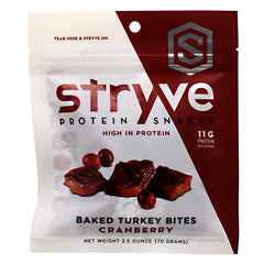 Stryve Protein Snacks Baked Turkey Bites - Cranberry - 2.5 oz - 856492007153
