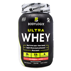 BodyLogix Ultra Whey Protein - Strawberry Creme - 2 lbs - 694422032154