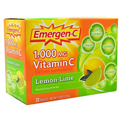 Emergen-C Health and Energy Booster - Lemon Lime - 30 Packets - 076314302055