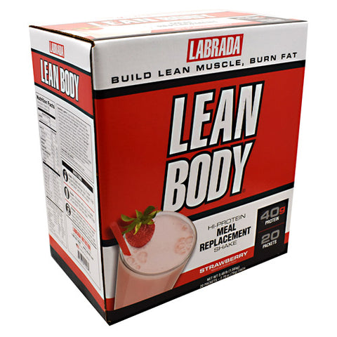 Labrada Nutrition Carb Watchers Lean Body - Strawberry - 20 Packets - 710779112421