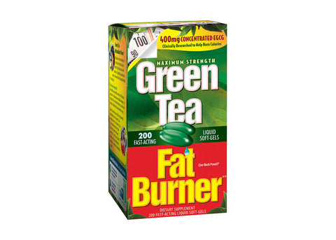 Green Tea Fat Burner, 200 Liquid Soft-Gels - (1 or 2 Pack) w/ Free Gym Towel