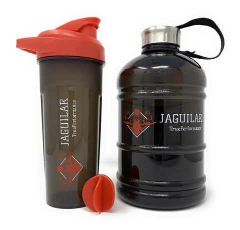 Half Gallon Water Jug & 24oz Protein Shaker Bottle For Indoor/Outdoor Workouts