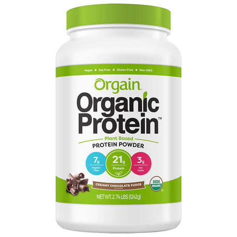 Orgain USDA Organic Plant Protein Powder, 2.70-pounds