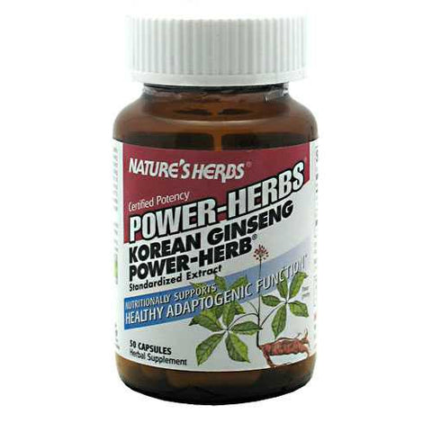 Natures Herbs Power-Herbs Korean Ginseng Power-Herb - TrueCore Supplements