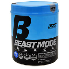 Beast Sports Nutrition Beast Mode Black - Blue Raspberry - 30 Servings - 631312802718