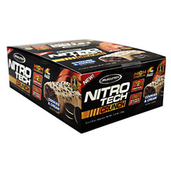 MuscleTech Nitro Tech Crunch - Cookies & Cream - 12 Bars - 631656560794