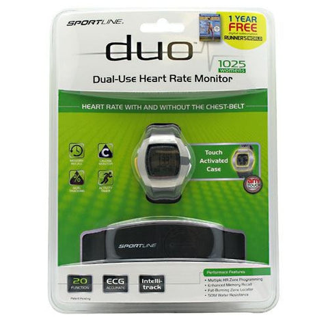 Sportline Duo 1025 Heart Rate Monitor Womens - TrueCore Supplements