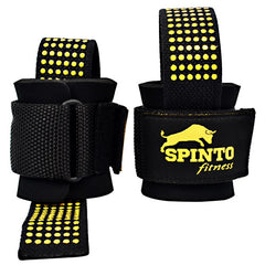Spinto Fitness Heavy Duty Lifting Straps - Black -   - 636655966486