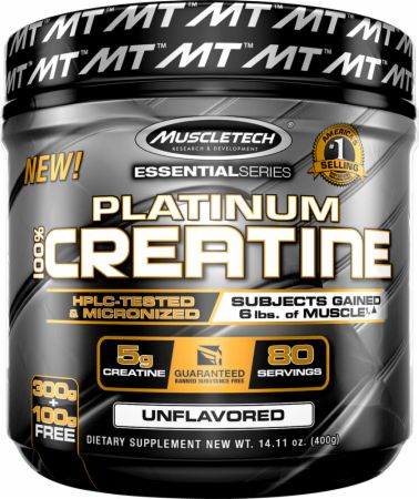 MuscleTech - 100% Creatine Monohydrate Powder - 80 Servings (1 or 2 Pack)