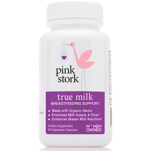 Pink Stork - True Milk - 60 Caps - Herbal Lactation Support