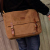 Canvas Cross-body Messenger Bag for Laptop, Notebook with Various Pockets