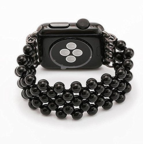 Replacement Women/ Girls Fashionable Beaded Band Strap for Apple Watch Series 1 Series 2 (42mm)