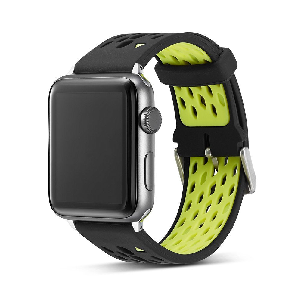 Soft Silicon Durable Replacement Wrist Band Strap for Apple Watch Series 1 Series 2, 42mm Sport Edition