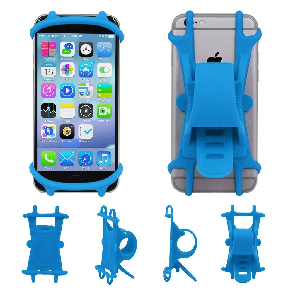 Universal Silicon Bike Mount For iPhone 8, 8 Plus, 7, 7 Plus, Android and Any Device 4-6 Inch [BP-S1]