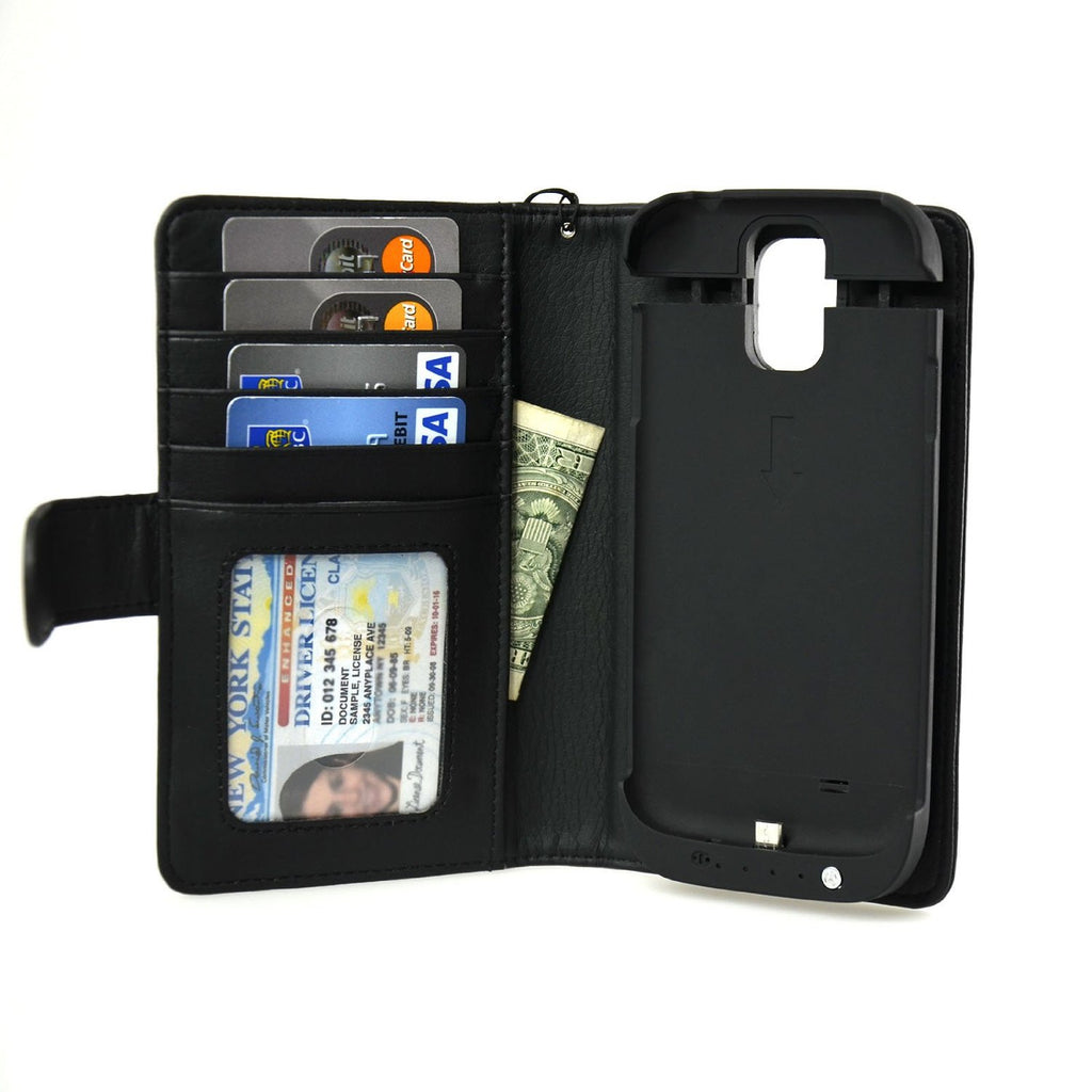 Samsung Galaxy S4 Wallet Power Battery Case 2600 mAh