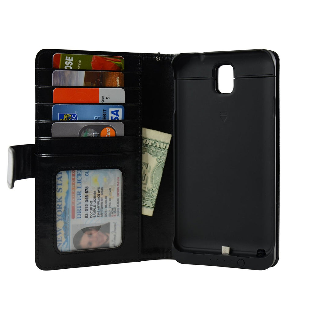 Samsung Galaxy Note 3 Wallet Power Battery Case 4200 mAh