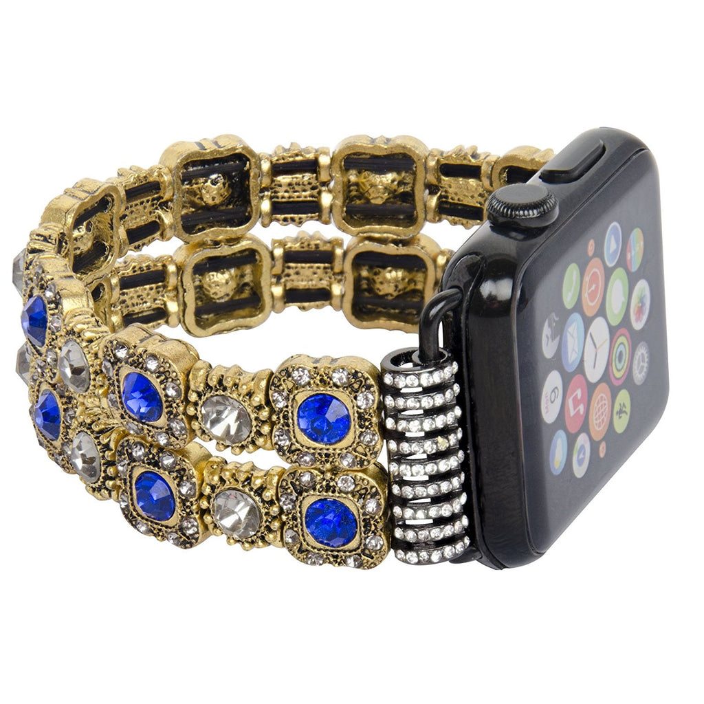 Replacement Women/ Girls Fashionable Beaded Bracelet Strap for Apple Watch Series 1 Series 2 (42mm)
