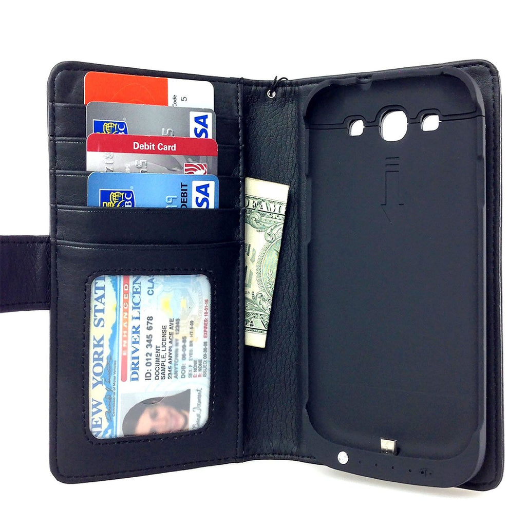 Samsung Galaxy S3 Wallet Power Battery Case 2200 mAh