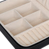 Leather Valet Travel Case Jewelry Organizer Storage Box