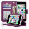 iPhone 5C Protective Flip Wallet Case
