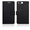 Genuine Leather Flip Wallet Case for iPhone 7 Plus [5.5 Inch] -Black