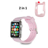 2 IN 1 Soft Silicone Protective Cute Kitty Case Cover AND Band for Apple Watch 42mm Series 1 / 2/ 3