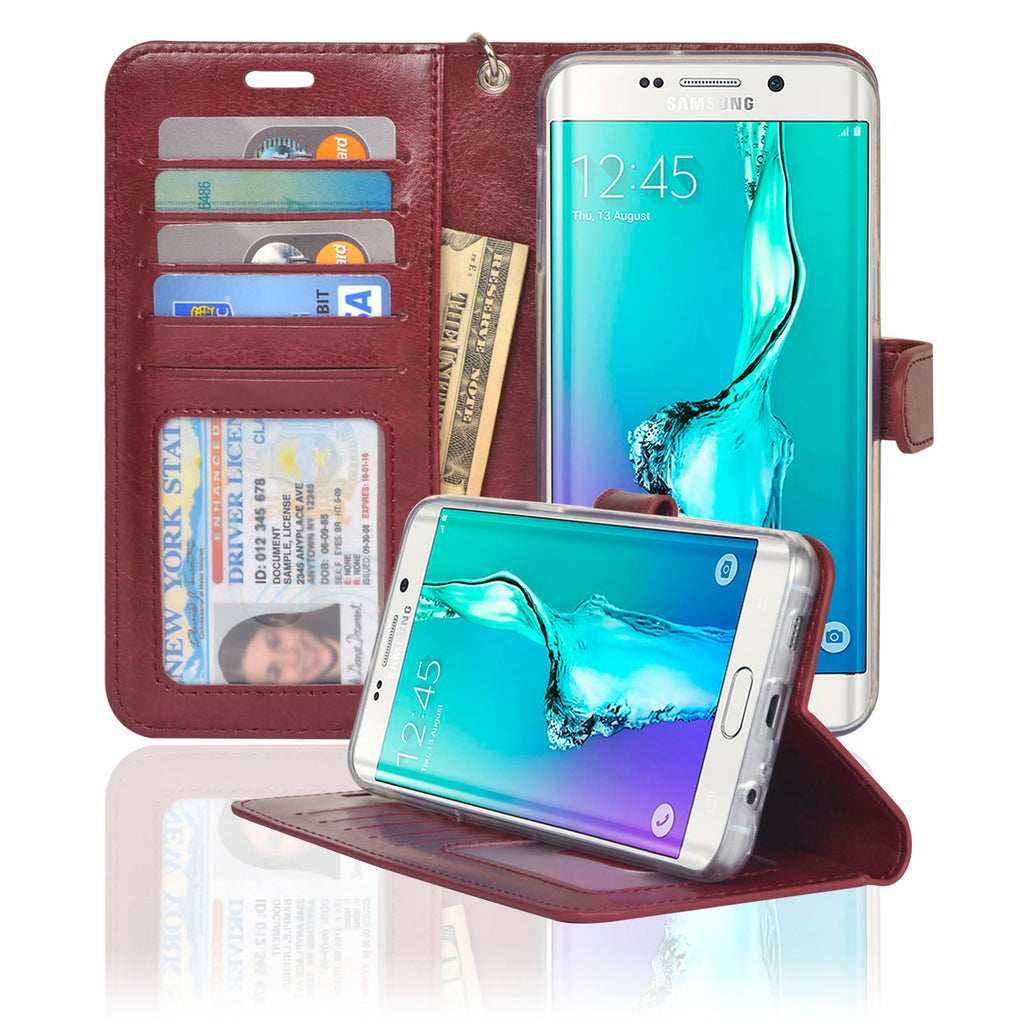 Samsung Galaxy S6 Edge Plus Wallet Case - Maroon