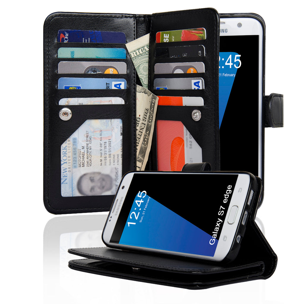 JOOT3 Series Samsung Galaxy S7 Edge Wallet Case with Detachable Magnetic Cover